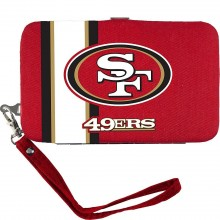 "San Francisco 49ers Distressed Wallet Wristlet Case (3.5"" X .5"" X 6"")"