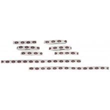 San Francisco 49ers 8 Piece Ponytail and Headband Set