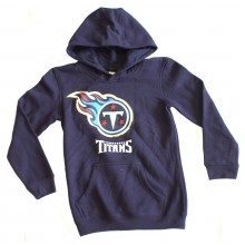 NFL Officially Licensed Tennessee Titans Reflective Gold Outline Logo Youth Hoodie