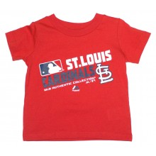 MLB Licensed St. Louis Cardinals Authentic Collection Slant Print YOUTH Shirt (Small 8)