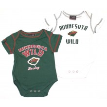 NHL Licensed Minnesota Wild 2 pc. Bodysuit Creeper Crawler