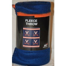 Virginia Cavaliers 3 Bar Repeater Fleece Throw Blanket