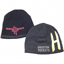 NBA Officially Licensed Houston Rockets Reversible Gray Black Beanie Hat