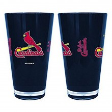 MLB Officialy Licensed St. Louis Cardinals 16 Oz Blue Plastic Pint Glass