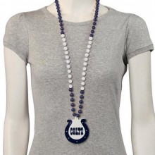 Colts team logo bead necklace.
