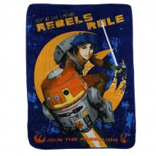 "Star Wars Lucas Rebels Rebels Rule Micro Raschel Throw - 46""x60"