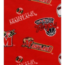 Maryland Terrapins 3 Bar Repeater Fleece Throw Blanket