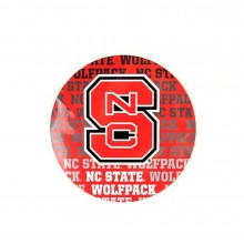 "NCAA Officially Licensed North Carolina State Wolfpack Repeating Design 4"" Round Magnet"