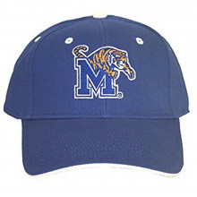 NCAA Officially Licensed Memphis Tigers Embroidered Logo Blue Baseball Style Hat Cap
