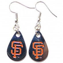 MLB Officially Licensed San Francisco Giants Silver Teardrop Style Dangle Earrings