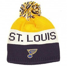 NHL Licensed St. Louis Blues Embroidered Pom Beanie Hat Cap Lid