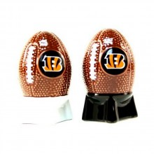 NFL Licensed Sculpted Football Shaped Salt and Pepper Shakers (Cincinnati Bengals)