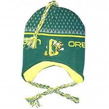 NCAA Licensed Oregon Ducks Mascot Fleece Lined Tassel Beanie Hat Cap