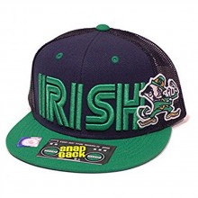 NCAA Officially Licensed Notre Dame Fighting Irish Mesh Back Embroidered Flatbill Snapback Adjustable Hat Cap Lid