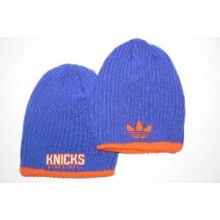 NBA New York Knicks 2 Tone Ribbed Embroidered Beanie by adidas