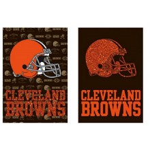 "NFL Licensed Cleveland Browns Outdoor Decorative Suede Glitter 29"" x 43"" House Flag"