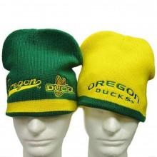 NCAA Licensed Oregon Ducks Reversible Emboidered Beanie