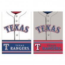 "MLB Licensed Texas Rangers Outdoor Decorative Foil 12.5"" x 18"" Garden Flag"