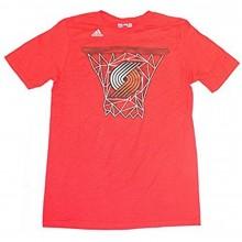 NBA Officially Licensed Portland Trail Blazers YOUTH Basket Logo T-Shirt (XLarge 18)