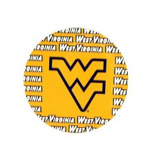 "NCAA Officially Licensed West Virginia Mountaineers Repeating Design 4"" Round Magnet"
