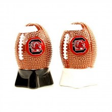 NCAA Licensed Sculpted Football Shaped Salt and Pepper Shakers (South Carolina Gamecocks)