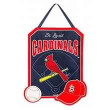 MLB Licensed St. Louis Cardinals Embroidered Warm Welcome Door Decor Banner Flag