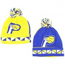 NBA Officially Licensed Indiana Pacers 2-sided Yellow Blue Cuffed Pom Beanie Hat Cap Lid …