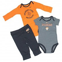 NCAA Licensed Oklahoma State Cowboys 3 Piece Bodysuit and Pant Set (12 Months )