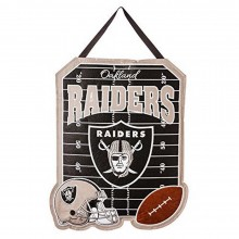 NFL Officially Licensed Oakland Raiders Embroidered Warm Welcome Door Decor Banner Flag