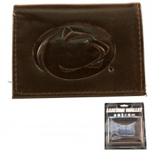 NCAA Officially Licensed Penn State Nittany Lions Tri-Fold Dark Brown Leather Wallet