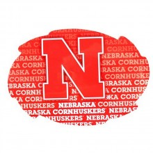 NCAA Officially Licensed Nebraska Cornhuskers Repeating Design Swirl Magnet