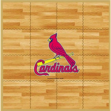 MLB Officially Licensed St. Louis Cardinals 8' X 8' Foam Flooring