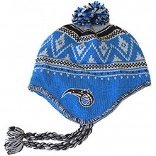 NBA Officially Licensed Orlando Magic Mongolian Snowflake Style Winter Beanie Hat Cap Lid Toque