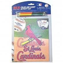 MLB Officially Licensed St. Louis Cardinals Color And Carry Activity Set