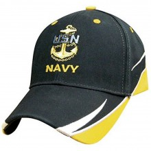 Officially Licensed Navy Swish Billed Hat Cap Lid Beanie