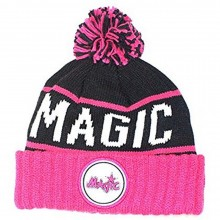 NBA Officially Licensed Orlando Magic Mitchell & Ness Knit Pink Black Cuffed Pom Beanie Hat Cap Lid …
