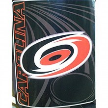 "NHL Officially Licensed Carolina Hurricanes Side Bar Fleece Throw (50"" x 60"")"