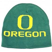 NCAA Licensed Oregon Ducks Green Jacquard Uncuffed Beanie