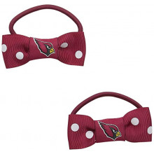 Arizona Cardinals Bow Pigtail Holders