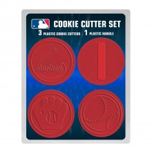 MLB Licensed 4 piece Plastic Cookie Cutter Set (St. Louis Cardinals)