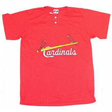 MLB Officially Licensed St. Louis Cardinals Button Crew YOUTH Logo T-Shirt