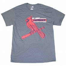 MLB Officially Licensed St. Louis Cardinals Men's Gray Banner T-Shirt