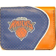 NBA Officially Licensed Faux Leather Zipper Wallet (New York Knicks Light Blue)