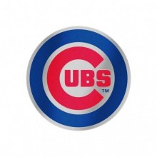 "Chicago Cubs 4"" X 4"" Auto Badge"
