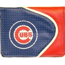 Chicago Cubs Faux Leather Zipper Wallet