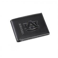 Auburn Tigers Black Leather Bi-Fold Wallet
