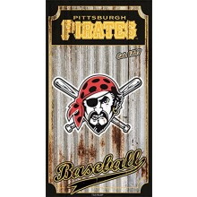 MLB Officially Licensed Pittsburgh Pirates Corrugated Metal Wall Art