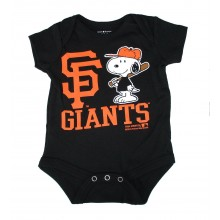 MLB Licensed San Francisco Giants Boys Snoopy Bodysuit Creeper Crawler (0-3 Months )