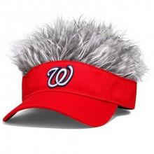 MLB Officially Licensed Washington Nationals Flair Hair Visor Cap