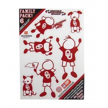 NCAA Oklahoma Sooners Family Decals, Small